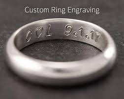 wedding ring engraving custom personalized inside ring engraving add inside ring