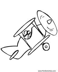biplane coloring fashioned biplane colouring pages