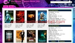 free streaming movies videos wordpress theme freethemes4all