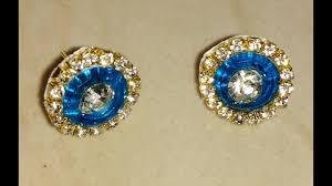make stud earrings how to make silk thread studs at home silk thread stud jhumkas