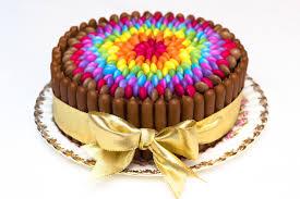 Cake Really Easy Chocolate Rainbow Smarties Cake Sunday Baking