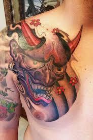 hannya mask on chest for tattooshunt com
