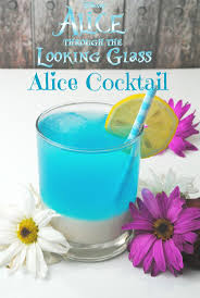 enjoy a blue cocktail recipe inspired by alice through the looking