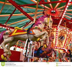 carousel stock image image of equine rider brass 36465281