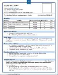 resume format for fresher best resume format for freshers niveresume resume