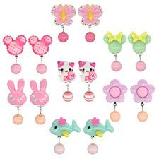 kids clip on earrings elesa miracle 7pc kids girl clip on earrings