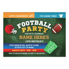 football party invitations u0026 announcements zazzle co uk