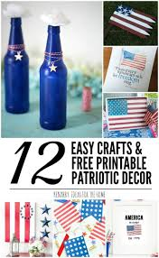 4th of july home decor patriotic decor ideas 12 easy crafts and free printables