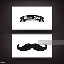 business card template hipster card with nice mustache vector art