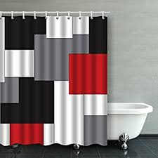 And Black Fabric For Curtains Accrocn Waterproof Shower Curtain Curtains Fabric Wavy