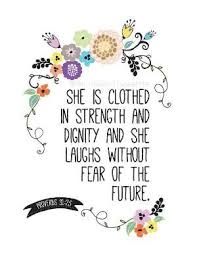 scripture gifts scripture print she is clothed in strength print floral theme