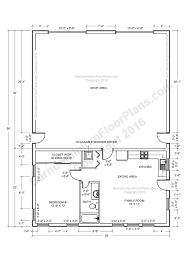apartments one bedroom building plan barndominium floor plans
