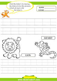 Writing The Alphabet Worksheets Kids Under 7 Alphabet Worksheets Trace And Print Letter L