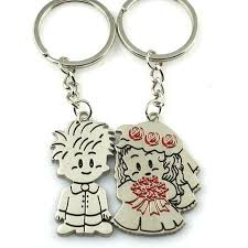 love key rings images Lnrrabc 1 pair couple i love you letter keychain heart key ring jpg