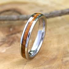 4mm ring genuine koa wood 4mm 100 tungsten carbide ring northernroyal