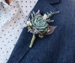 succulent boutonniere boutonnieres for wedding accessories groom lapel flowers