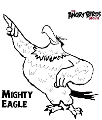 angry birds eagle coloring page printable coloring sheets