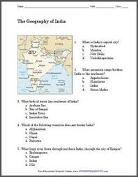 geography of india map worksheet free to print pdf file