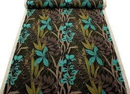 harlequin designer cotton jute floral heavy prints curtain