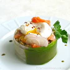 cuisine oeuf salade de lentilles au saumon fumé et oeuf poché la cuisine des
