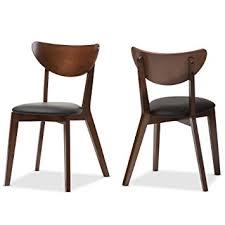 Black Walnut Dining Chairs Baxton Studio Desta Mid Century Walnut Brown Dining