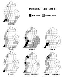 Michigan Map Of Counties by Fruit