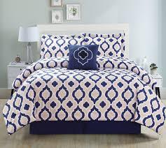 Teal Bed Set 5 Piece Moroccan Teal Comforter Set