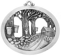 maple sugaring ornament handcrafted new hampshire
