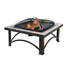 Slate Firepit Sunjoy Andover 30 In Slate Tile Pit L Ft456pst 2b The Home