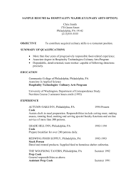 Housekeeping Duties On Resume Resume For Culinary Student Resume For Your Job Application