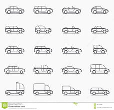 types of cars car body types icons stock vector image 46171880