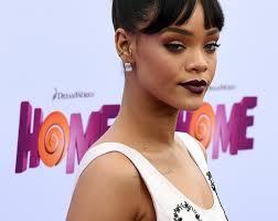 rihanna hoop earrings rihanna wears hoop earrings lip liner a choker necklace