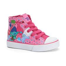 trolls light up shoes amazon com dreamworks trolls girls high top sneakers