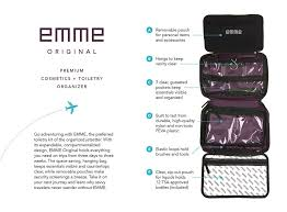 carry on baggage rules important 204 trips emme original cosmetic and toiletry bag emme llc