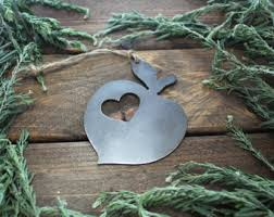 Rustic Metal Christmas Decorations by Love Hikers Rustic Christmas Tree Christmas Ornaments Heart