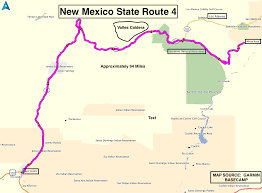 New Mexico State Parks Map by Roadrunner U0027s Bucket List Roads New Mexico State Route 4