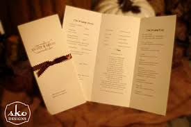 trifold wedding programs tri fold program carbon materialwitness co