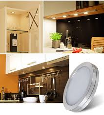 led under the cabinet lighting pack of 6 units led under cabinet lighting kit 1020lm puck