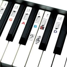 piano key notes piano and keyboard music note stickers for white keys with songs