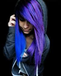 blue purple emo scene alternative hair style german site