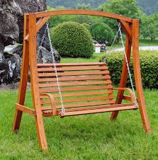 2 3 seater larch wood wooden garden outdoor swing seat bench