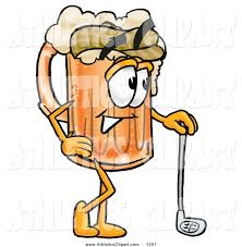 beer cartoon clip art of a sporty beer mug mascot cartoon character leaning on
