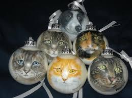 custom pet ornament animal cat portrait on