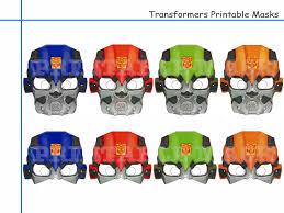 transformer rescue bots party supplies unique transformers printable masks party decoration kids