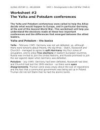 worksheet 2 u2013 the yalta and potsdam conferences