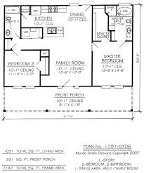2 bedroom 1 bath floor plans 2 bedroom 2 bath floor plans plan ranch style small house plan 2