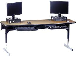 Computer Desk With Adjustable Keyboard Tray Computer Desk With Adjustable Keyboard Tray Shown With Optional