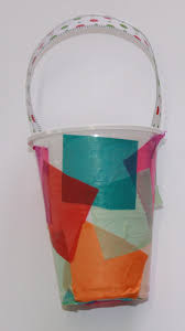 christmas lantern using a plastic cup and transparent materials