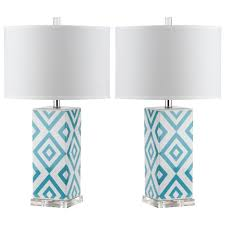 blue table lamp image with amusing blue bedside lamps canada duck