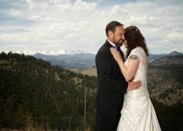 Denver Wedding Photographers Chief Hosa Lodge Golden Colorado Natural Snow Covered Mountain